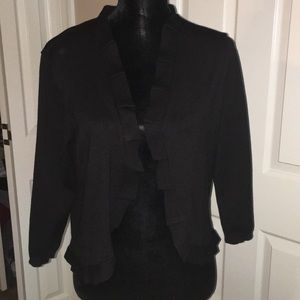 NWT 89th & Madison black open front cardigan L